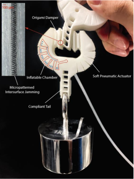 Figure 1 for A Flexible Connector for Soft Modular Robots Based on Micropatterned Intersurface Jamming