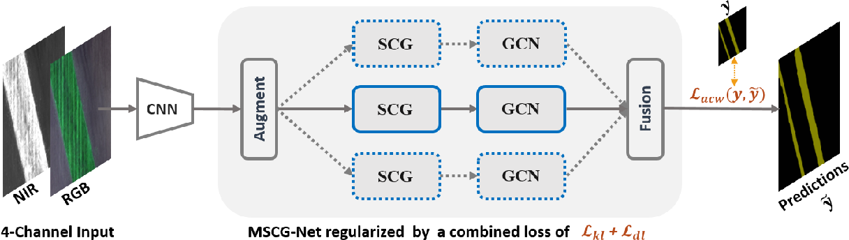 Figure 2 for Multi-view Self-Constructing Graph Convolutional Networks with Adaptive Class Weighting Loss for Semantic Segmentation