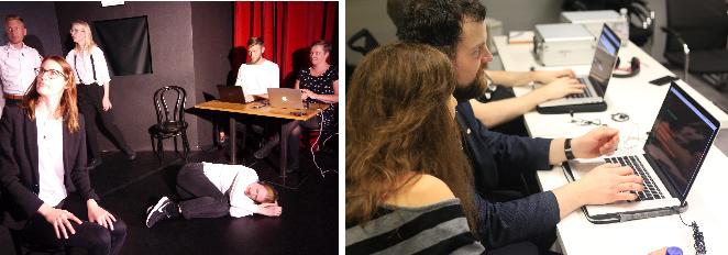 Figure 1 for Improbotics: Exploring the Imitation Game using Machine Intelligence in Improvised Theatre