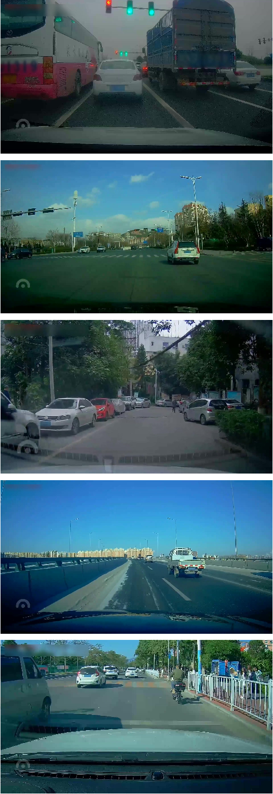Figure 1 for D$^2$-City: A Large-Scale Dashcam Video Dataset of Diverse Traffic Scenarios