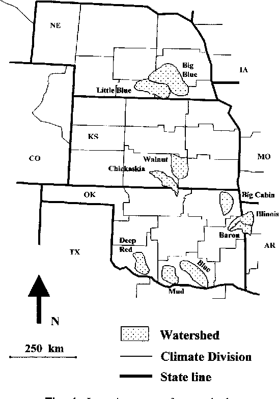 Fig. 1. Location map of watersheds