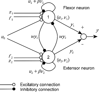 Figure 3 for Evolution of central pattern generators for the control of a five-link bipedal walking mechanism