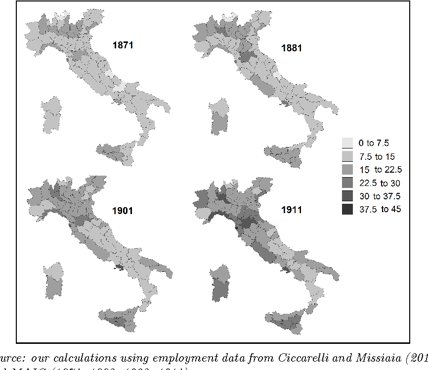Provincial Map Of Italy.Figure 6 From The Industrial Geography Of Italy Provinces Regions