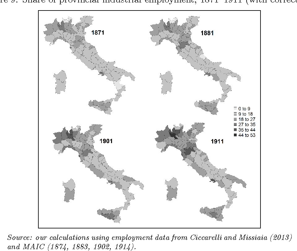 Provincial Map Of Italy.Figure 9 From The Industrial Geography Of Italy Provinces Regions