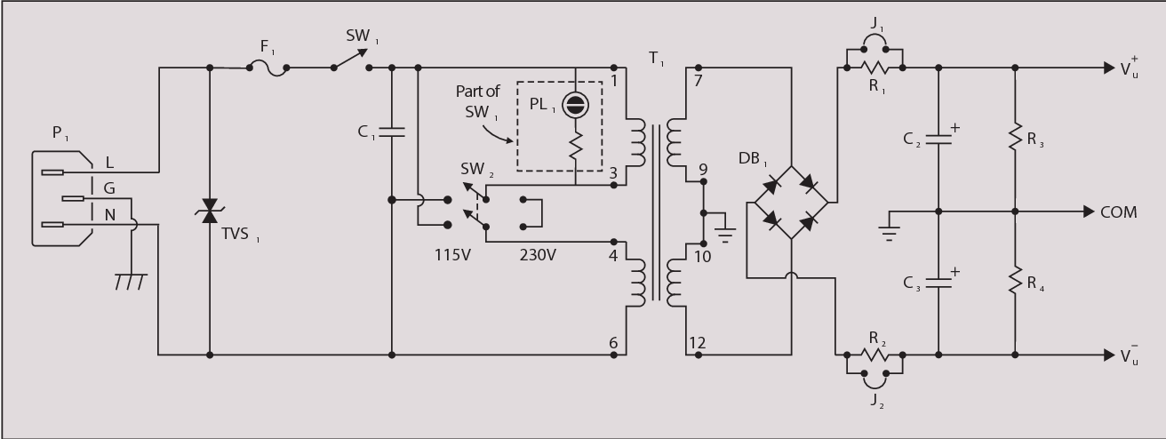 figure 5 from project power supply version 1 part 1 jack dyer s rh semanticscholar org 300W ATX Power Supply Schematic Power Supply Circuit Diagram