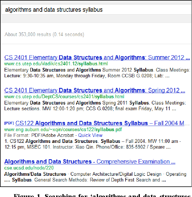 Building a search engine for computer science course syllabi