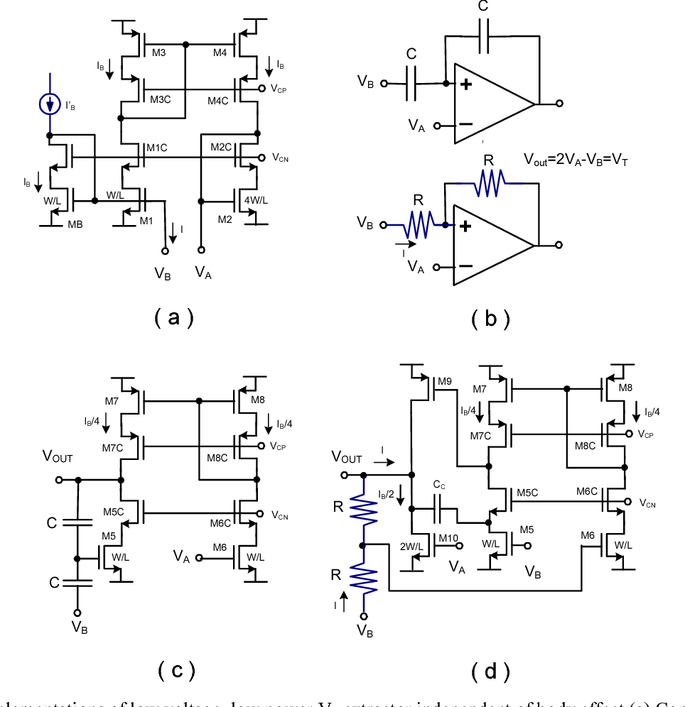 Simple Low Voltage Power Implementations Of Circuits For Vt Parallel Figure 2