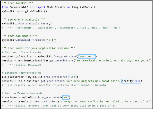 Figure 4 for CodemixedNLP: An Extensible and Open NLP Toolkit for Code-Mixing