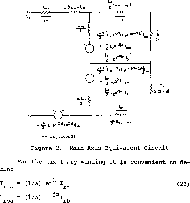 Equivalent Circuit Model For A Shaded Pole Induction Motor Ii One
