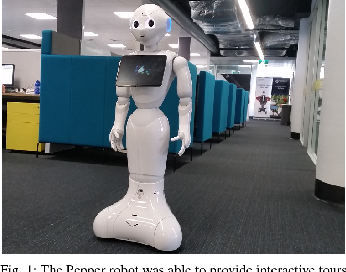Figure 1 for Enabling a Pepper Robot to provide Automated and Interactive Tours of a Robotics Laboratory