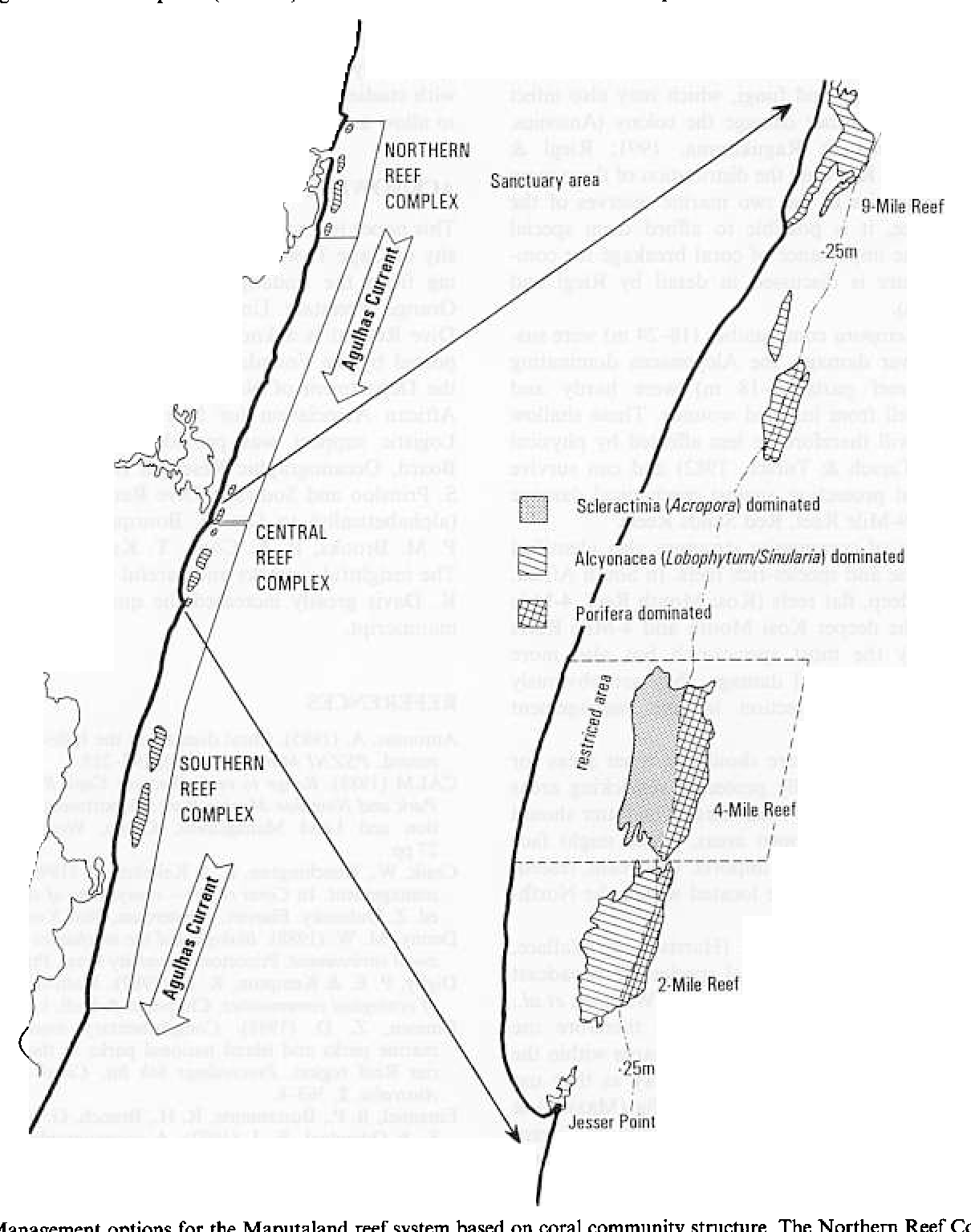 figure 9 from studies on coral munity semantic scholar Exodus Tabernacle Diagram fig 9 management options for the maputaland reef system based on coral munity structure