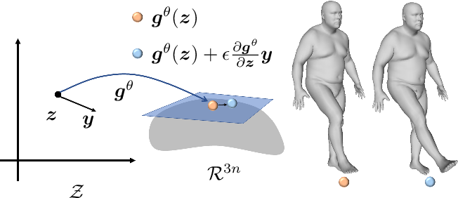 Figure 4 for ARAPReg: An As-Rigid-As Possible Regularization Loss for Learning Deformable Shape Generators
