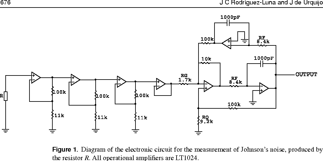 figure 1 from a simple, sensitive circuit to measure boltzmann\u0027sdiagram of the electronic circuit for the measurement of johnson\u0027s noise, produced