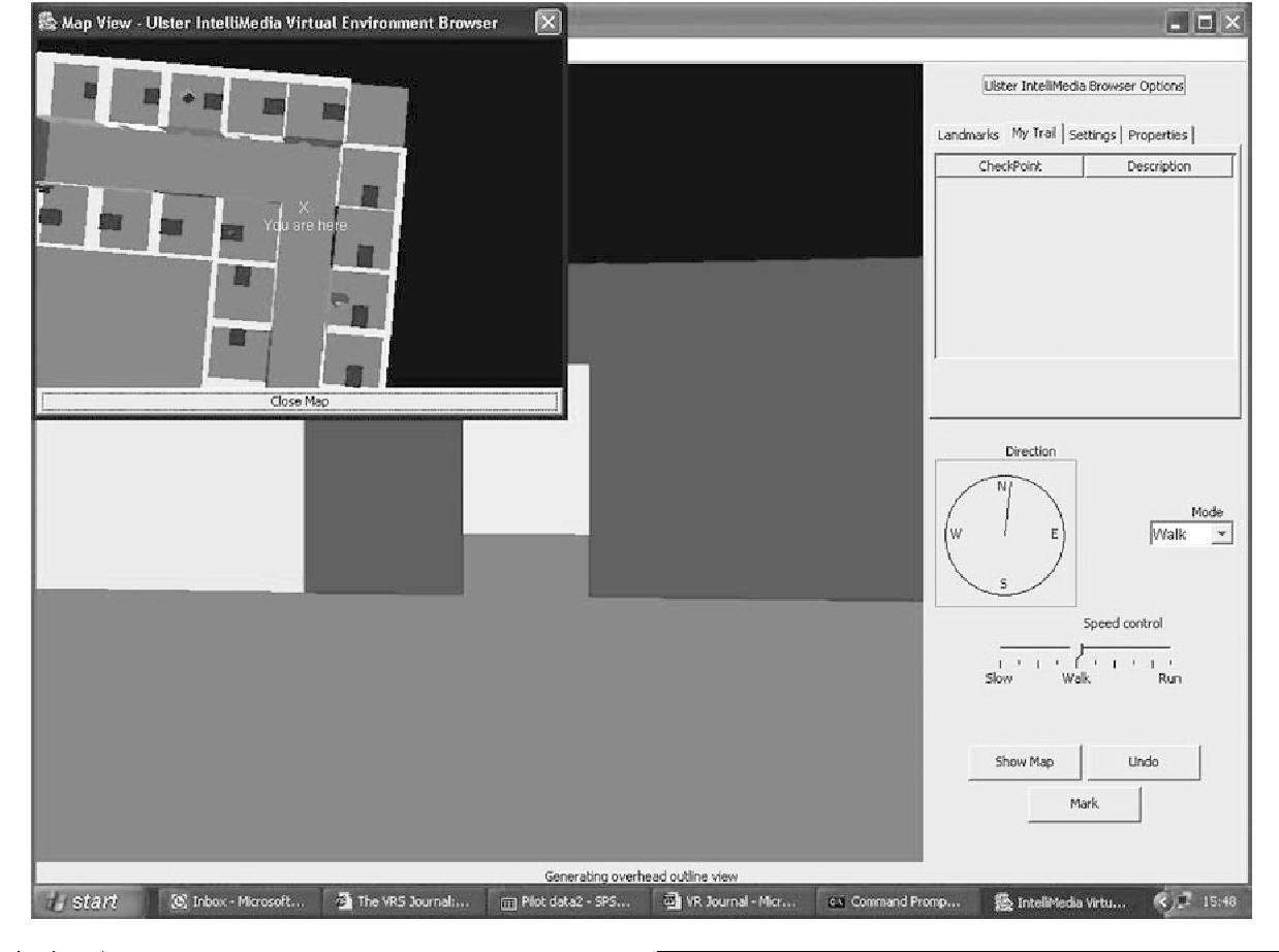 Navigational tools for desktop virtual environment