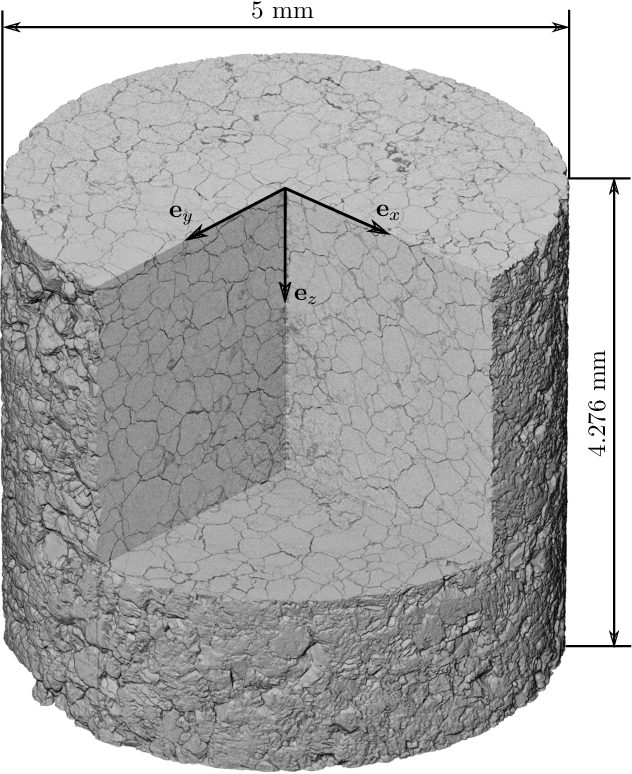 Figure 1 for Detecting micro fractures with X-ray computed tomography