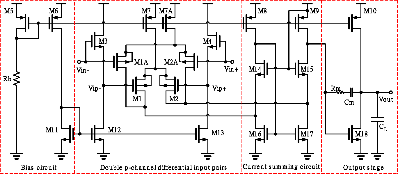 A Low Voltage Cmos Rail To Operational Amplifier Using Double P Dual Opamp Buffered Power Supply Circuit Diagram Channel Differential Input Pairs Semantic Scholar