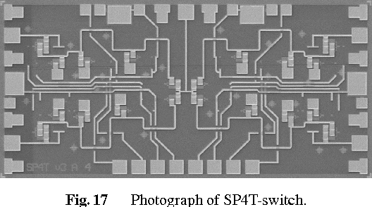 Fig. 17 Photograph of SP4T-switch.