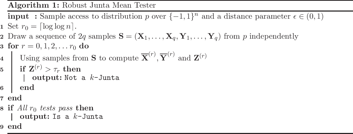 Figure 1 for Learning and Testing Junta Distributions with Subcube Conditioning
