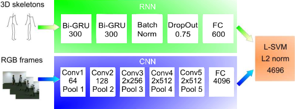Figure 4 for Two-Stream RNN/CNN for Action Recognition in 3D Videos