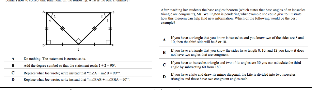 Figure 1 from Mathematical Knowledge for Teaching High School