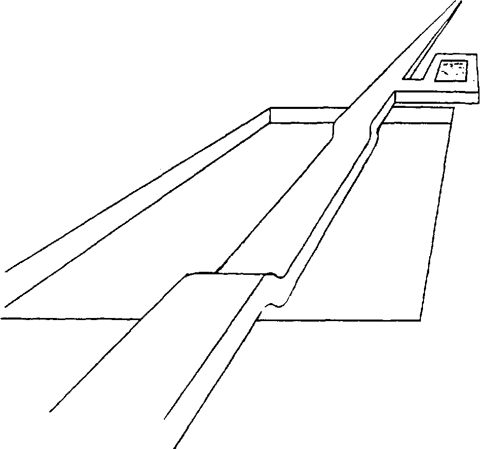 Figure 3.17 Three dimensional perspective drawing of the micro-bridge after deflection