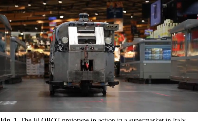 Figure 1 for Robot Perception of Static and Dynamic Objects with an Autonomous Floor Scrubber