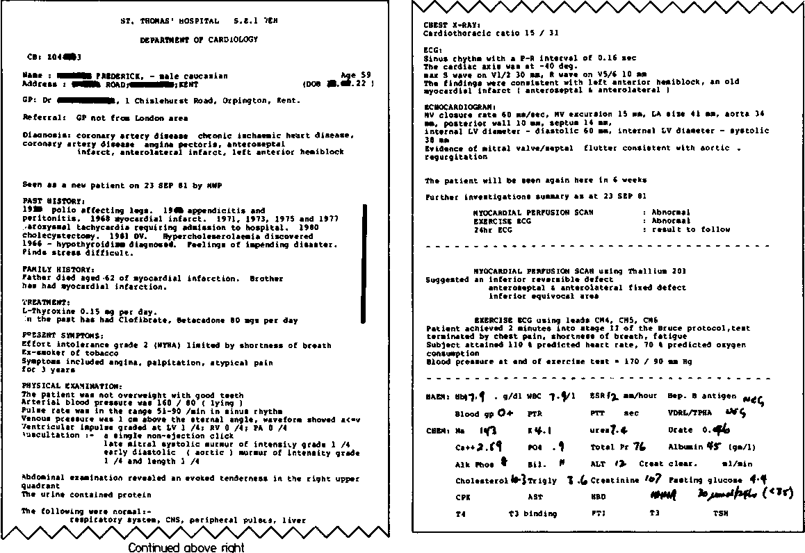 Fig. 4 The clinical report. The bar at the right margin indicates the proportion derivedfrom free text data.