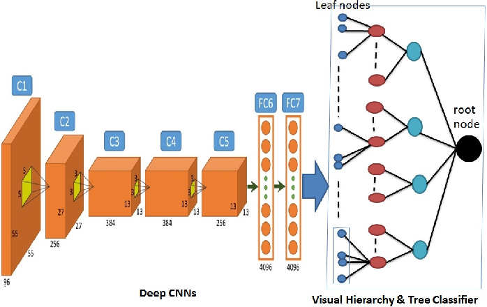 Figure 1 for Embedding Visual Hierarchy with Deep Networks for Large-Scale Visual Recognition