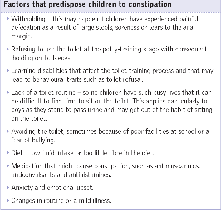 Assessing and treating faecal incontinence in children