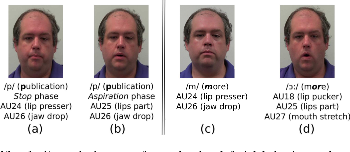 Figure 1 for Listen to Your Face: Inferring Facial Action Units from Audio Channel
