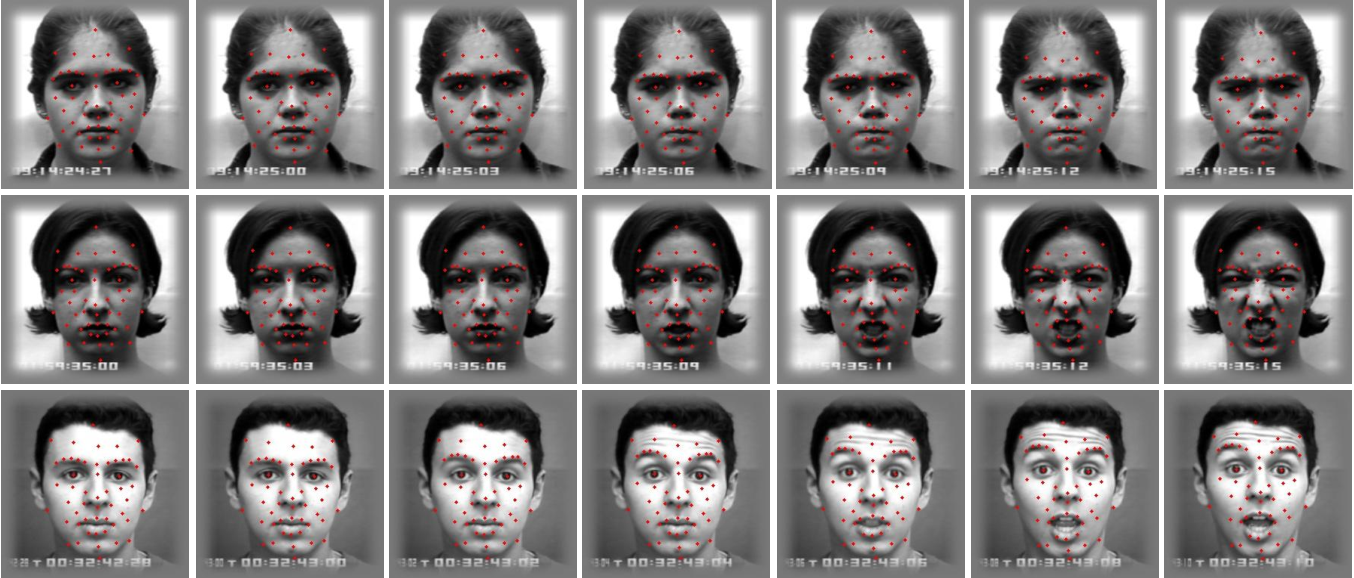 Figure 2 for Geometric Feature-Based Facial Expression Recognition in Image Sequences Using Multi-Class AdaBoost and Support Vector Machines