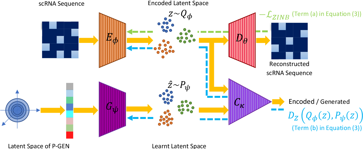 Figure 1 for ScRAE: Deterministic Regularized Autoencoders with Flexible Priors for Clustering Single-cell Gene Expression Data