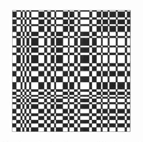 Figure 3: An optimal grid pattern (checkerboard type).