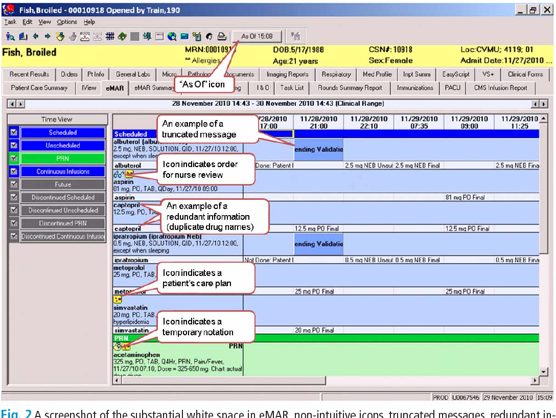 electronic medication administration record software