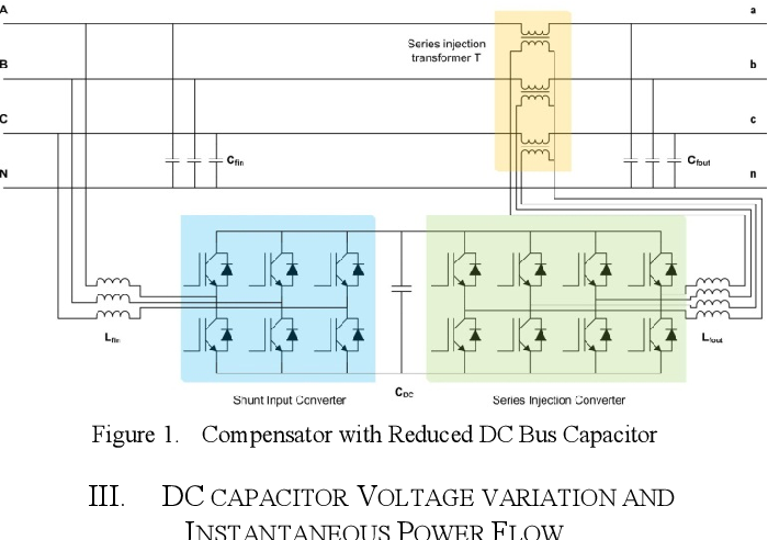 A UPFC with reduced DC bus capacitance for LV distribution
