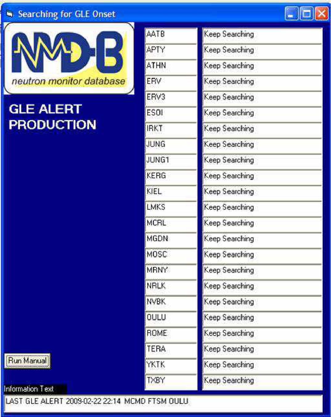 Implementation of the ground level enhancement alert software at