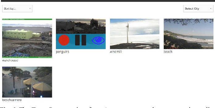 Fig. 2 The EventCam user interface. A user can record, pause, or view a live feed from the cameras.