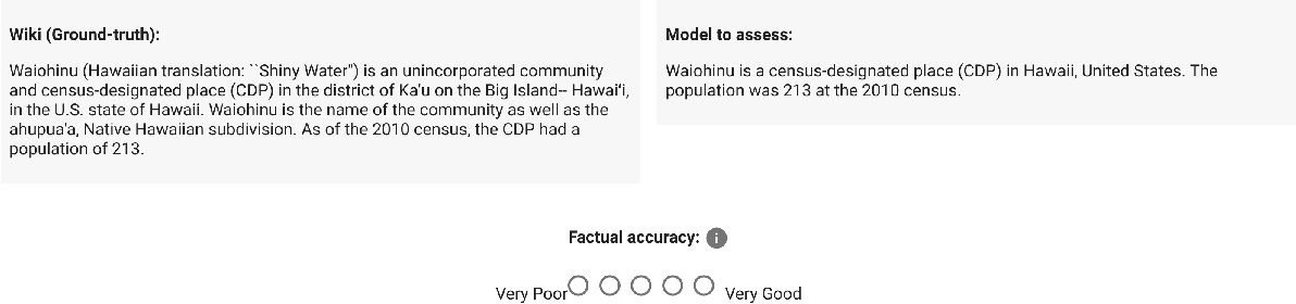 Figure 3 for Assessing The Factual Accuracy of Generated Text