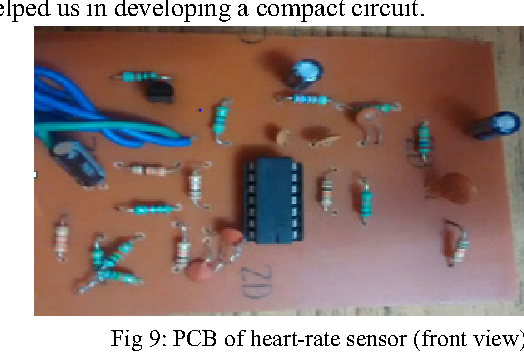 Fig 9: PCB of heart-rate sensor (front view)