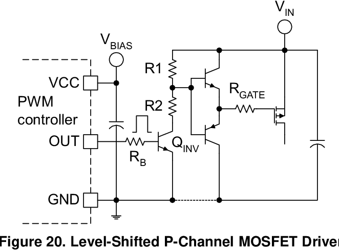 level-shifted p-channel mosfet driver