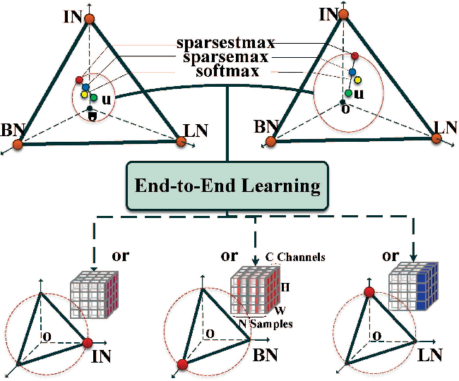 Figure 1 for SSN: Learning Sparse Switchable Normalization via SparsestMax