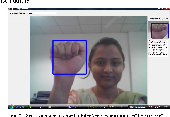 Figure 2 from Machine learning model for sign language