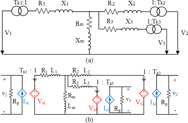 Figure 3 for Using Terminal Circuit for Power System Electromagnetic Transient Simulation