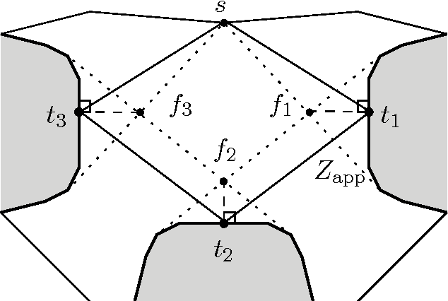 Figure 4: Computing an approximate route