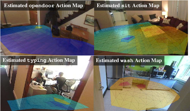 Figure 3 for Learning Action Maps of Large Environments via First-Person Vision