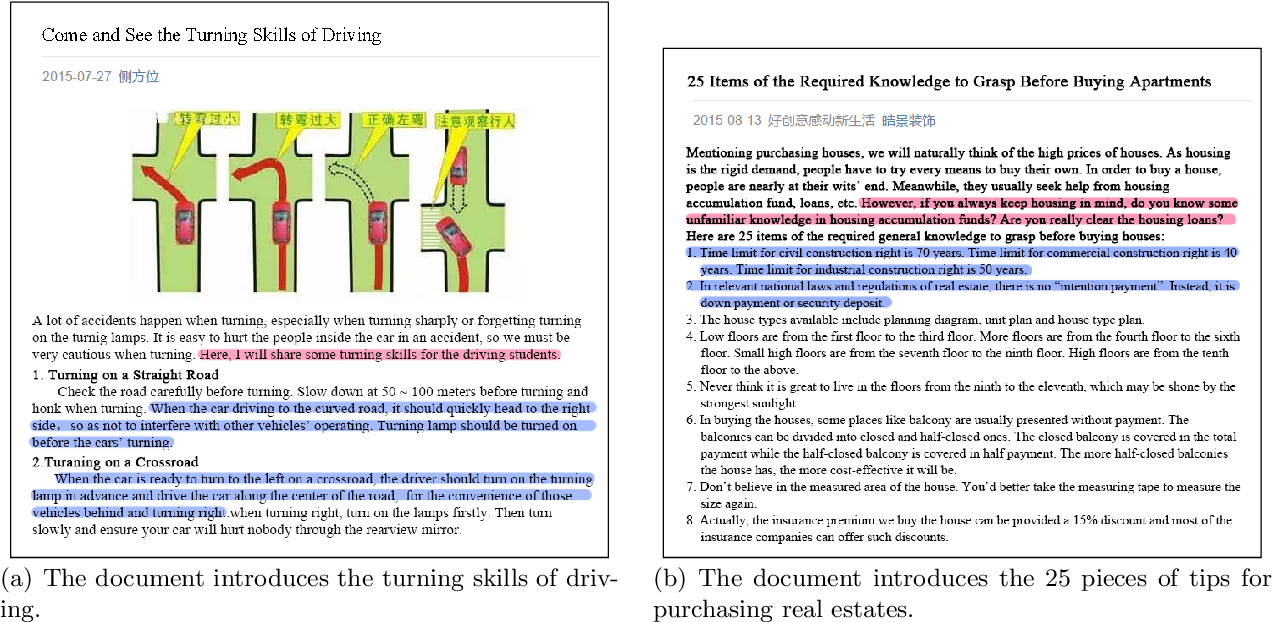 Figure 1 for Hierarchical Neural Network for Extracting Knowledgeable Snippets and Documents