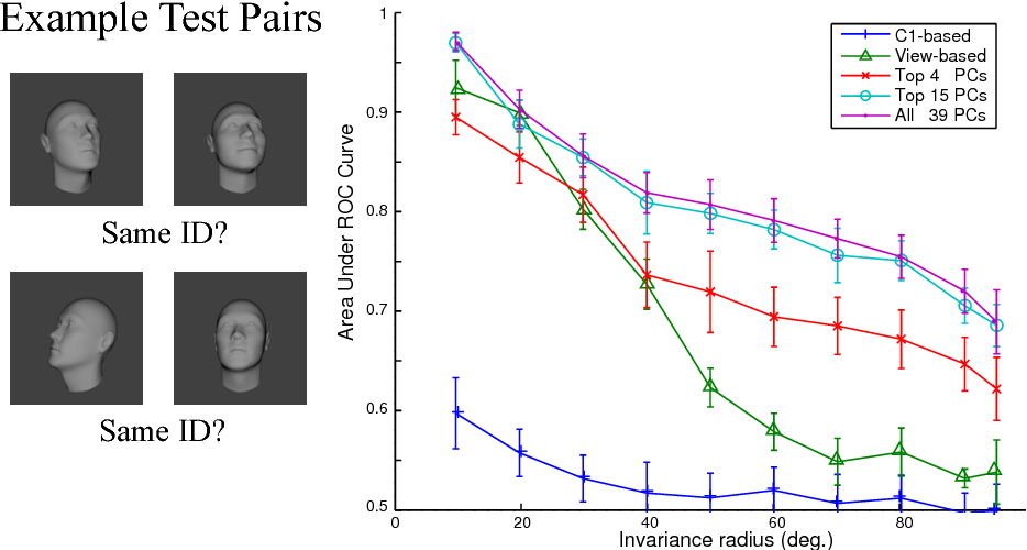 Figure 3 for View-tolerant face recognition and Hebbian learning imply mirror-symmetric neural tuning to head orientation