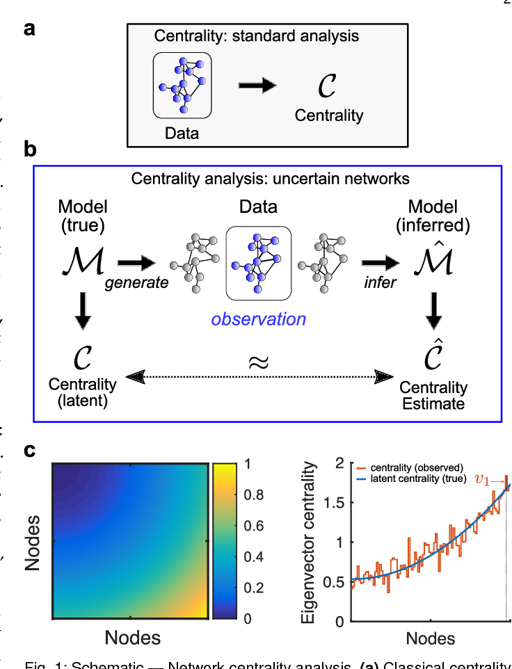Figure 1 for Centrality measures for graphons: Accounting for uncertainty in networks
