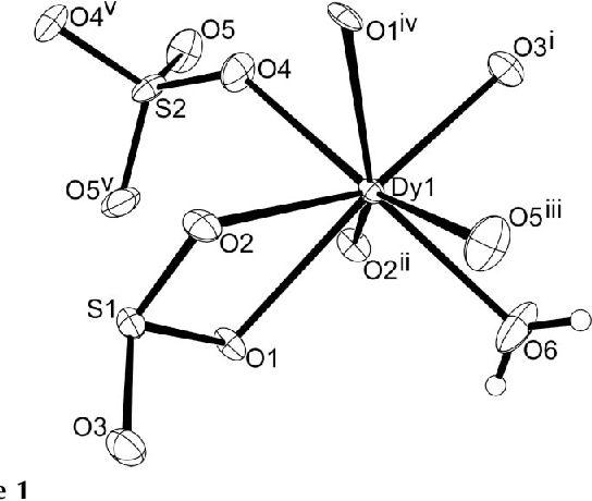 Figure 1 From Dy2so32so4h2o2 The First Lanthanide Mixed