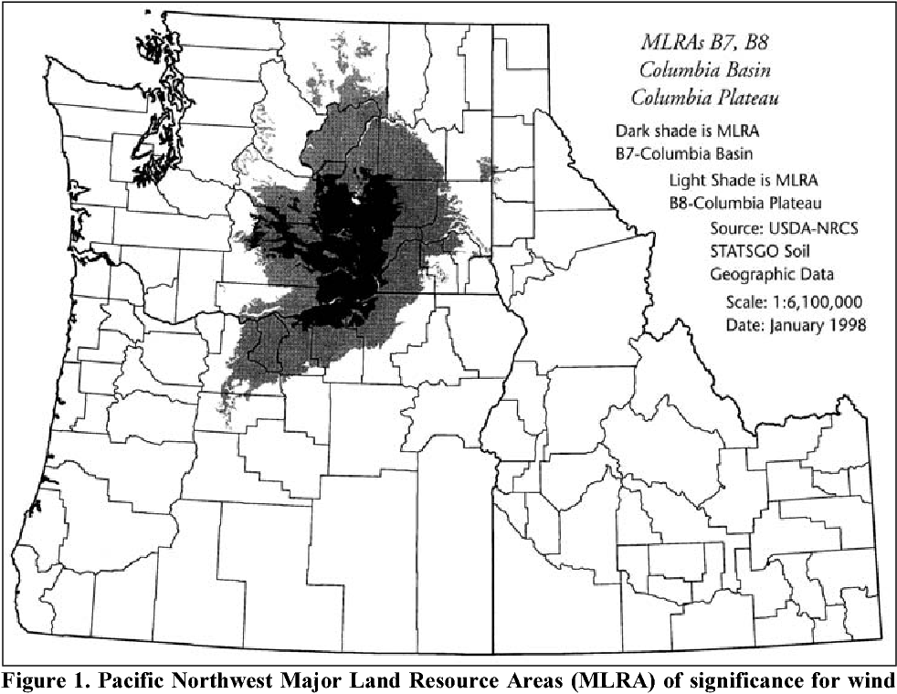 Figure 1 From Wind Erosion And Air Quality Research In The Northwest